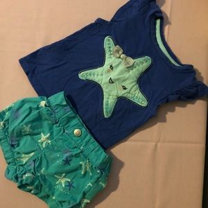 Gymboree sea star outfit size 12-18 months